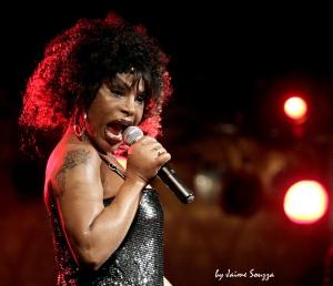 Elza Soares, soltando a voz em show. (Fonte: www.hangarcentrodeconvencoes.com.br)